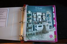 A great Thirty-One binder from a dash Contact me for thirty one products and booking parties and these could be at your party!! Happy Shopping :)
