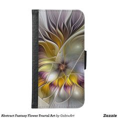 Abstract Fantasy Flower Fractal Art Wallet Phone Case For Samsung Galaxy S6