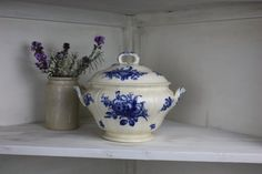 Vintage Blue and White Tureen by Villeroy & Boch