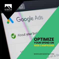 Google Ads success is hugely dependent on relevancy and consistency. The more specifically you target your campaigns to the target keywords, the more likely a user is to click on the ad. Uinta Digital provides the best-in-class service at affordable rates. Contact us today! #googleads #advertising #adcampaigns #targetkeywords #uintadigital #utahagency #advertisingagency