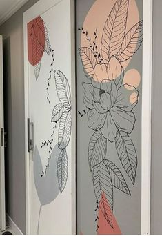Wall Painting Decor, Art Painting Gallery, Mural Wall Art, Wall Decor, Wall Art Designs, Paint Designs, Fleur Design, Inspirational Wallpapers, Home Room Design