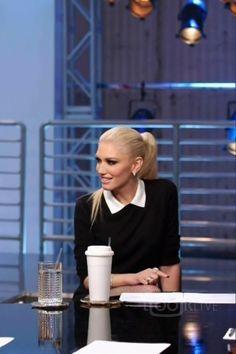 Gwen Stefani wearing  Red Valentino Classic Collar Sweater
