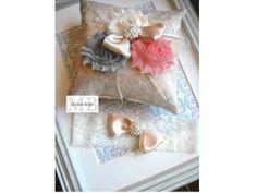 Vintage- Inspired Embellished Lace Ring Pillow And Garter, Weddings, Ring Bearer Pillow,Bridal Garter, Bride, Ring Pillow,