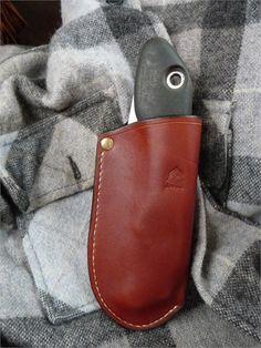 Bushcraft- Benorford leather sheath for Silky Boy 130mm saw.