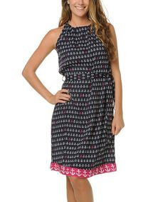 This Navy Anchor Back-Tie Dress is perfect! #zulilyfinds. Love this look but would need a different fabric.