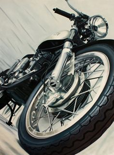 Motorcycles News Shop Artist Archive Home Guenevere Schwien is an accomplished oil painter who currently shows her paintings at the Carmel Art Association in Carmel Ca. She works in a photorealist style leaning towards Hyperrealism. She is building a strong reputation for her motorcycle paintings. She has won several awards for her landscapes and motorcycles. Her other subject matter include bubbles, rainy landscapes and most recently desserts. She currently resides in Portland, Or.