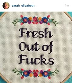 Fresh out cross stitch