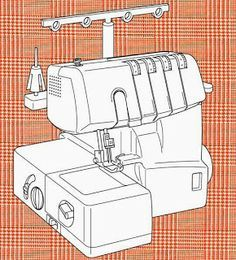 Overlock domestica, tipos de puntada Brother Overlock, Singer Overlock, Sewing Hacks, Sewing Projects, Clothing Patterns, Sewing Patterns, Costura Diy, Underwear Pattern, Janome