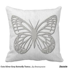 Rest your head on one of Zazzle's Cute decorative & custom throw pillows. Colorful Pillows, Decorative Throw Pillows, Grey Pillows, Pillow Texture, Backdrops, Gray Color, Butterfly, Cute, Silver