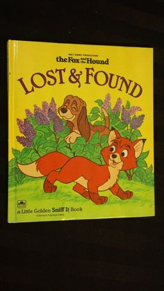 Walt Disney's The Fox and the Hound Lost and Found little Golden Sniff It scratch and sniff hardcover childrens vintage 80s book