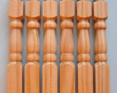 Red Oak & Primed White Newel Posts Posts for stairs Stair Posts, Newel Posts, Oak Newel Post, Red Oak, Staircases, Really Cool Stuff, Stairs, Etsy, Stairway