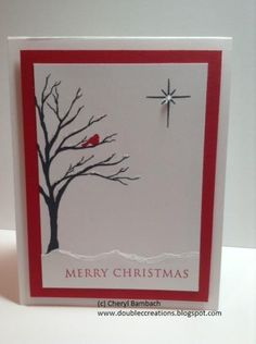 IO Solid Tree Christmas by - Cards and Paper Crafts at Splitcoaststampers Cas Christmas Cards, Scrapbook Christmas Cards, Stamped Christmas Cards, Homemade Christmas Cards, Christmas Art, Scrapbook Cards, Homemade Cards, Holiday Cards, Scrapbooking