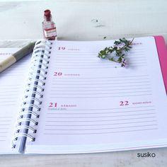 Agenda escolar, semana vista