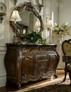 If I ever came into a windfall, this is one of the large sideboard with mirror I want!  from Magnolia Hall-Made in the USA <3