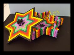 Colorfull jewelry box hama perler by magic-perles