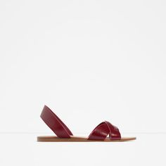ZARA - NEW IN - LEATHER SLINGBACKS WITH STRAP