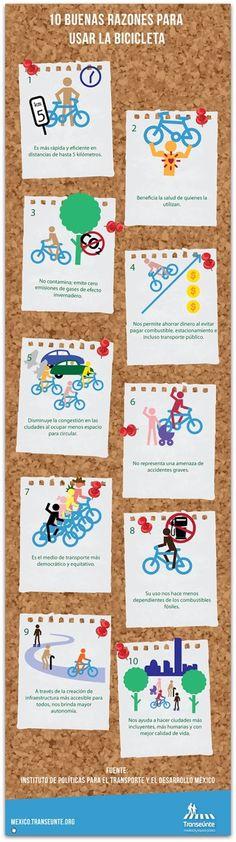 Beneficios del uso de la bicicleta. mexico.transeunte.org