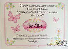 Convite artesanal Floral jardim encantado borboletas 12x15cm - Ateliê das Horas Vagas
