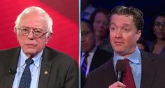 Sen. Bernie Sanders got into a tense exchange with a Trump-supporting small business owner about federal regulations hurting small businesses. Sanders, participating in a CNN town hall event Monday, said it's very easy to blame President Obama for unfavorable regulations, but that there is more to it than that. Jim Jacobs, identified as a small business owner from Chester County, Pa., likely a realtor, who voted for President-elect Trump, said small businesses like his have been kicked in...
