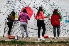 Los alumnos trabajarán mano a mano para la realización del mural. Culture