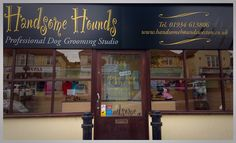 Handsome Hounds ProffesionalDogGroomingStudio  Weston-Super-Mare  Creative Grooming Dog Grooming Courses Day Care/Home Boarding  Treatments   Clothing & Accessories  Gifts & Products   www.handsomehoundsweston.co.uk