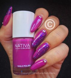 Betty Nails: Nativa do Brasil - Nail Polish & Crazy Polish Lady Marie Antoinette Mini Bow, Nail Polish Brands, Marie Antoinette, Betta, Nail Colors, Pink Purple, Nail Art, Glitter, Bows