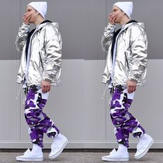 Camo Pants Fashion, Camo Pants Outfit, Camo Jogger Pants, Stylish Mens Outfits, New Outfits, Casual Outfits, Fashion Outfits, Colored Camo Pants, Street Outfit