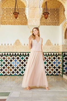 Give your entrance a little bit of sparkle in a beaded maxi dress Bridal Dresses, Bridesmaid Dresses, Prom Dresses, Race Day Fashion, Beaded Top, Occasion Dresses, Frocks, Summer Wedding, Entrance
