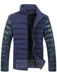 Mens Down Jacket, Jacket Men, Bomber Jacket, Stand Collar Shirt, Padded Jacket, Mens Sweatshirts, Outerwear Jackets, Winter Jackets, Winter Parka