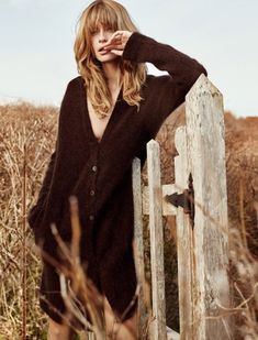 Cozy cardigan featured in Stefanel's fall-winter 2016 campaign