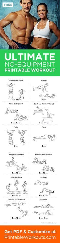 Printable Workout to Customize.