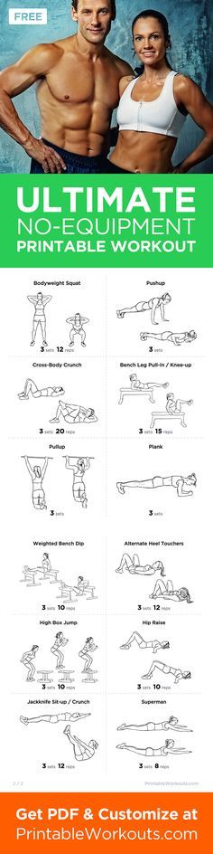 Printable Workout to Customize.