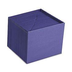 """Smead® Letter 21 Pockets Expanding File w/7/8"""" Expansion, Purple"""