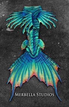 Full Silicone Mermaid Tail by Merbella Studios. Based off of the Lionfish.