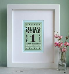 Not on the high street - love this as a gift for newborns..