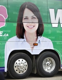 Politics in Canada is not usually this amusing. There is NO way the guys who wrapped this bus did not see this!!