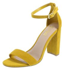 Add a pop of color to your summer look with the yellow Houston sandal!