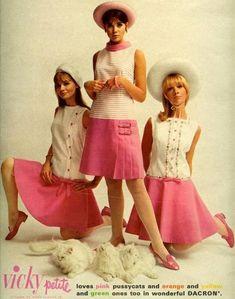 1967 April Seventeen Vicky Vaughn fashions - Joan Paulson Colleen Corby Cay Sanderson