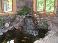 Indoor Fish Ponds with Waterfall 42 Decoration Beautiful Luxury Small Indoor Koi Pond Design Ideas Awesome Indoor Ponds for Best 4 Indoor Pond, Indoor Water Fountains, Solar Fountains, Outdoor Fountains, Garden Fountains, Indoor Gardening, Koi Pond Design, Fountain Design, Garden Design