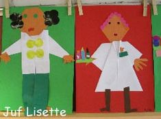 Kern 9 www.juflisette.nl First Grade Crafts, Activities For Kids, Crafts For Kids, Kindergarten, Jobs In Art, Community Helpers, Dramatic Play, Health Education, Ambulance