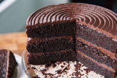 Pastel de chocolate con coca cola