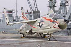 Mark Von Raesfeld  F-8 Crusader  On the flightdeck of the USS Hornet in Alameda | Flickr - Photo Sharing!