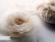 Headpiece handmade silk pressed flower with hand beading Silk Press, Bridal Hair Accessories, Headpieces, Flower Crafts, Fascinator, Dyi, Cheers, Beading, Bubbles