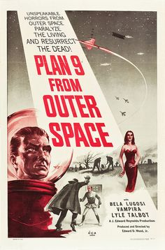 plan 9 from outer space #movie #poster #vintage