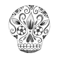 robyn's art blog: Candy Skull Sketches