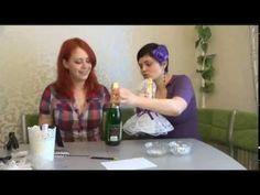 Декор бутылок шампанского к Новому году. Мастер-класс. Decor Bottles.How to decorate bottles - YouTube