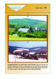 Siegerland: Irmgarteichen- Sommer und Winter -  mit Blick ins Rothaargebirge ist Teil der neuen Ausgabe zum virtuellen Galeriegebäude II bei Buch-Juwels Seejerlänner Galerie.