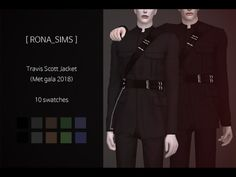 Travis Scott Jacket (Met Gala 2018) for The Sims 4