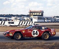 The Ferrari 365 GTB/4 at the 24 Hours of Daytona, 1977. The car was driven by Elliot Forbes-Robinson, Paul Newman and Milt Minter and finished fifth over all.
