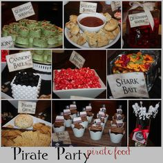 just Sweet and Simple: Pirate Party  The little signs make everything look so good :)